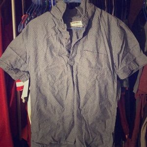Express Short Sleve 1/4 Button Up